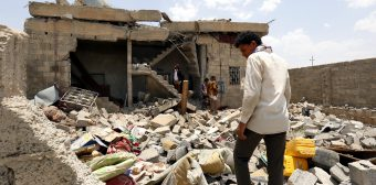An alleged Saudi-led airstrike kill at least 37 people in Yemen