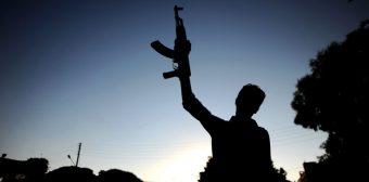 Syrian rebels near Aleppo