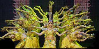 Deaf Chinese girls perform Thousand-Hand Guan Yin dance inTawian