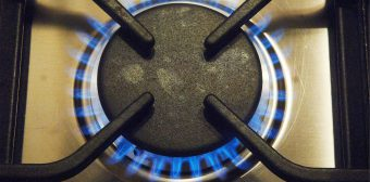 A gas oven works