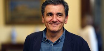 Swearing in of new Greek Finance Minister Euclid Tsakalotos